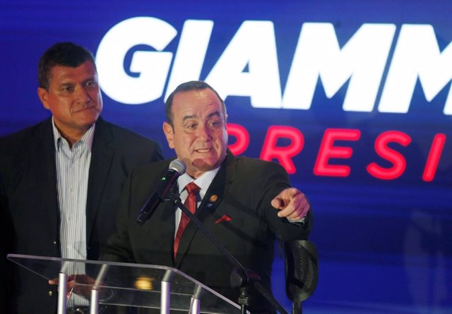 El presidente entrante de Guatemala, Alejandro Giammattei