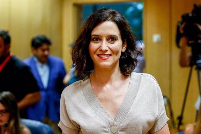 Imagen de archivo del la candidata del PP a la Presidencia de la Comunidad de Madrid, Isabel Díaz Ayuso.
