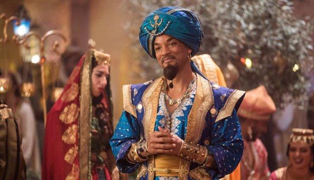 Imagen de Will Smith como el Genio en la versión de imagen real de Aladdin (2019)