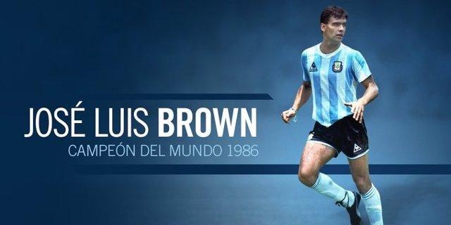 José Luis 'Tata' Brown, autor del gol que consagró a la selección argentina campeona del mundo en 1986