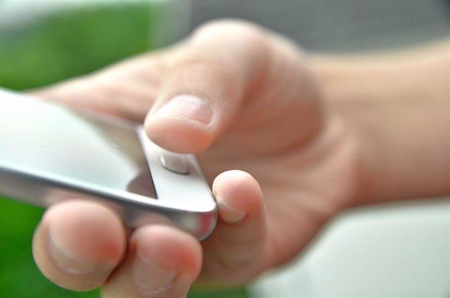 Lector de huella dactilar en un smartphone