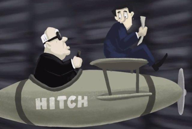 Homenaje animado a Alfred Hitchcock