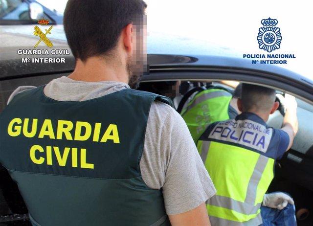 Desarticulado un grupo delictivo dedicado a la distribución de cocaína en Murcia y provincias limítrofes, operación conjunta Guardia Civil y Policía Nacional