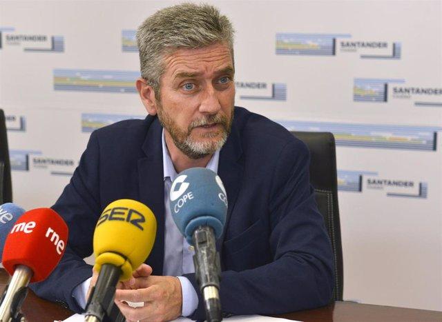 Javier Ceruti (Cs), portavoz del Ayuntamiento de Santander y concejal de Urbanismo, Innovación y Contratación