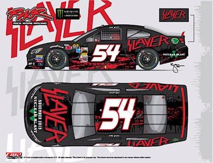 El coche de carreras de Slayer en la NASCAR