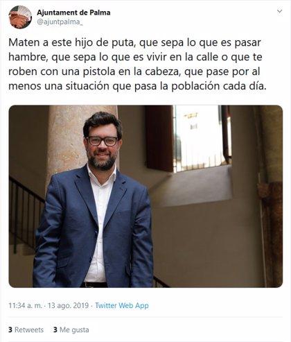 La Policia investiga el hackeig del compte de Twitter de l'Ajuntament de Palma, després de recuperar el compte