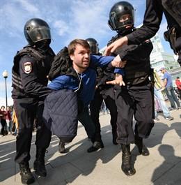 Protesta de la oposición rusa en Moscú