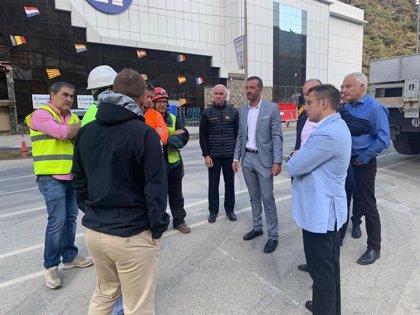 Las actuaciones en la zona afectada por el desprendimiento de Andorra avanzan a buen ritmo