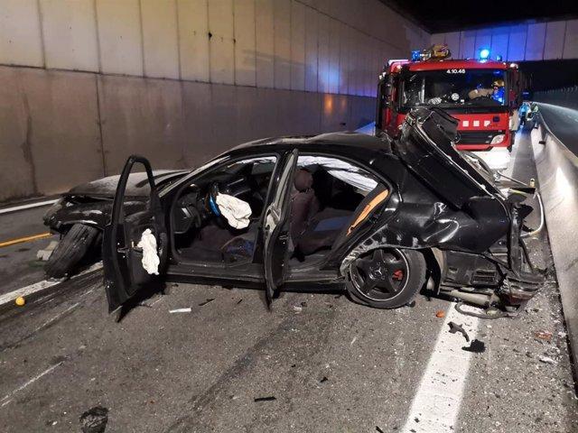 Accidente de tráfico en la C-17 en Mollet del Vallès