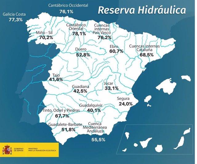 Mapa reserva hidraúlica