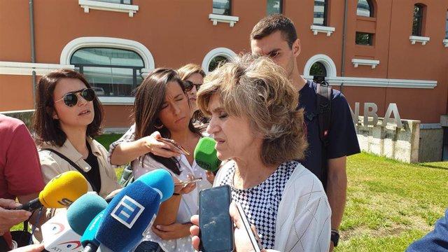 La ministra de Sanidad en funciones, María Luisa Carcedo, en Oviedo.