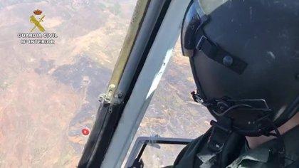 """El fuego de Cazadores en Telde (Gran Canaria) afecta a 160 hectáreas y está """"estabilizado"""""""