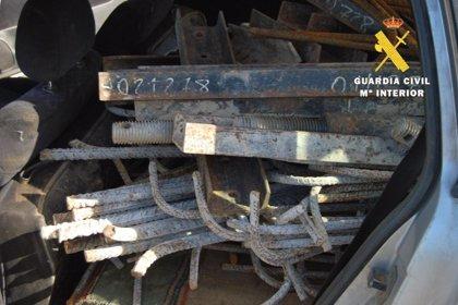 Tres detenidos en Reinosa por robar material de obra en la autovía A-73