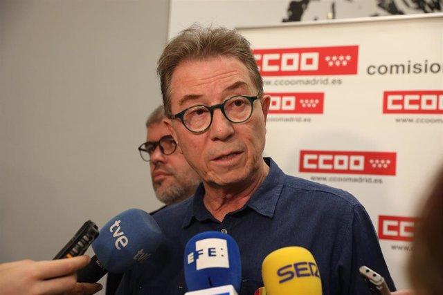 Imagen de archivo del secretario general de CCOO Madrid, Jaime Cedrún.