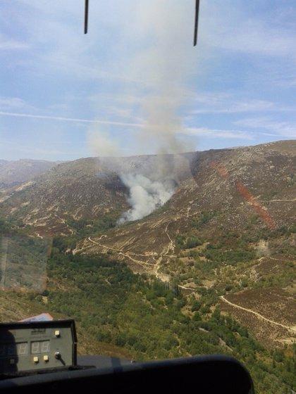 Declarado un fuego de nivel 1 en Navalacruz (Ávila)