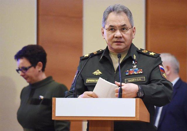 El ministro de Defensa ruso, el general Sergei Shoigú