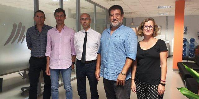 El secretari autonòmic, Jesús Jurado (2d); el director de l'Oficina Anticorrupció, Jaume Far (3d); la directora general de Transparència, Marina Crespí, i el cap de l'àrea d'Ètica Pública, Prevenció i Integritat de l'Oficina Anticorrupció, Tòfol Milán.