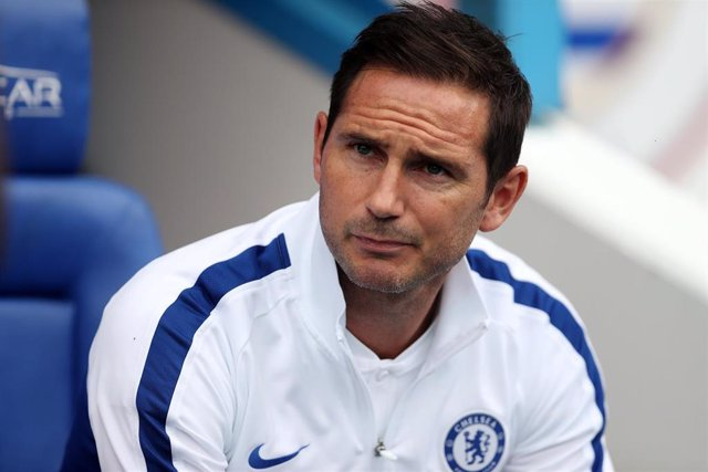 28 July 2019, England, Reading: Chelsea FC Manager Frank Lampard is pictured during the pre-season friendly soccer match between Reading and Chelsea at the Madejski Stadium. Photo: David Davies/PA Wire/dpa