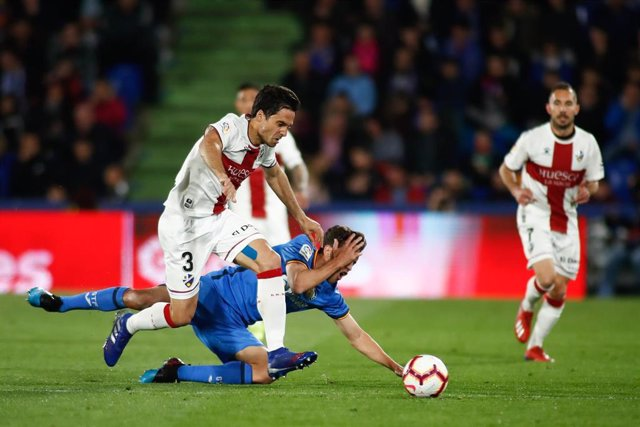 Etxeita of Huesca during the spanish league, La Liga, football match played between Getafe CF and SD Huesca at Butarque Stadium in Getafe, Madrid, Spain, on March 9, 2019.