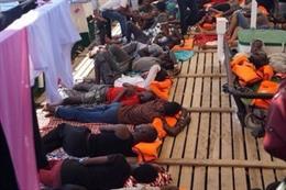 Migrants a bord de l'Open Arms a l'agost de 2019