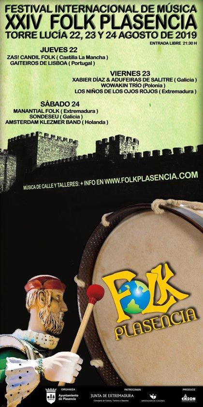 Ritmos de Holanda, Polonia, Portugal y Extremadura se darán cita en el Festival Folk de Plasencia (Cáceres)