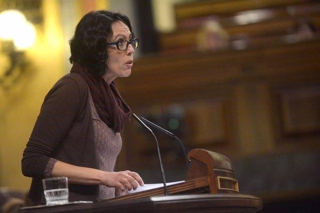 La diputada de Unidas Podemos Eva García Sempere (IU)