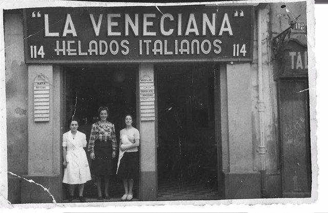 En 1943, la primera heladería 'La Veneciana' abrió sus puertas en el número 114 de la logroñesa Calle Portales