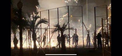 La Nit de l'Albà se salda con 42 heridos leves, atendidos por impactos de cañas y quemaduras