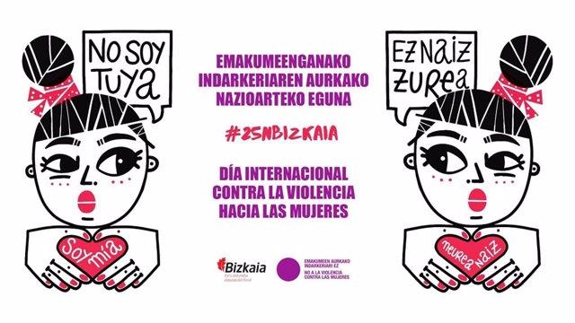 Cartel de la campaña contra la violencia de género de Bizkaia