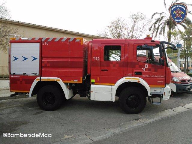 Un camión de los Bomberos de Mallorca.