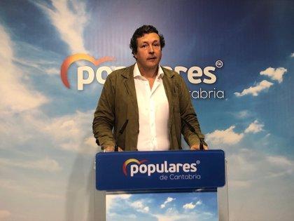 """PP afea a Revilla que esté """"mucho más preocupado"""" por la investidura de Sánchez que por """"gobernar Cantabria"""""""