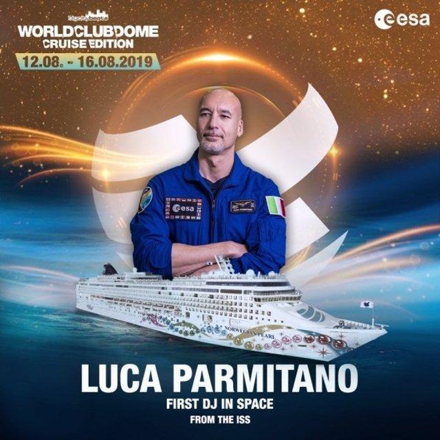 Cartel anunciador del set de Luca Parmitano