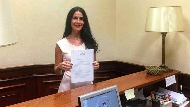 La diputada de Vox, Carla Toscano