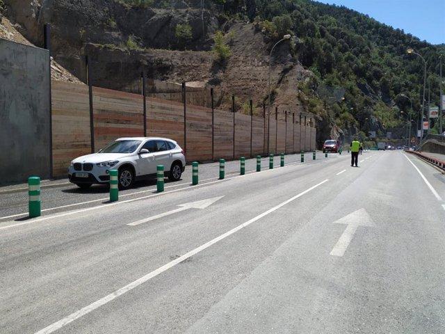 Restablecida la circulación de la CG-1 de Andorra