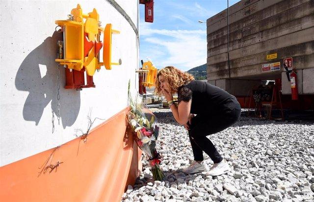 Ceremonia por el primer aniversario del derrumbe del puente Morandi en Génova