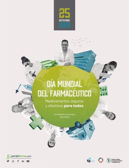 'Medicamentos seguros y efectivos para todos', el lema de los farmacéuticos para su Día Mundial