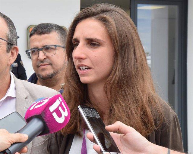 La diputada per Balears d'Unides Podem al Congrés dels Diputats, Lucía Muñoz.