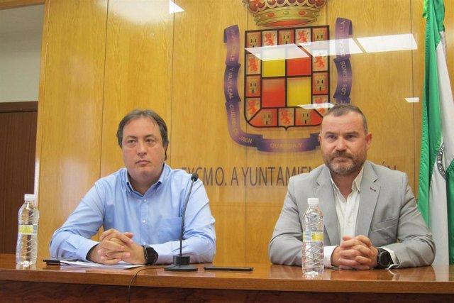Los concejales de Comunicación y Personal de Jaén, José Manuel Higueras y Carlos Alberca.