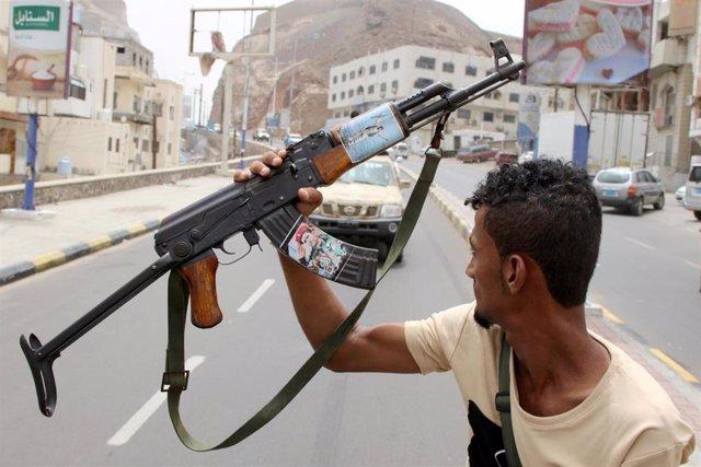 Separatista yemení en Adén