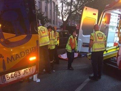 Dos menores detenidos al conducir el coche que provocó ayer el accidente con tres heridos en Moratalaz