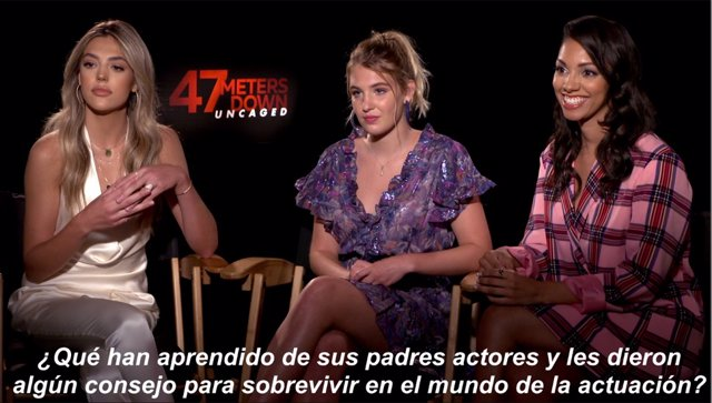 Las actrices Sistine Stallone, Corinne Foxx y Sophie Nelisse