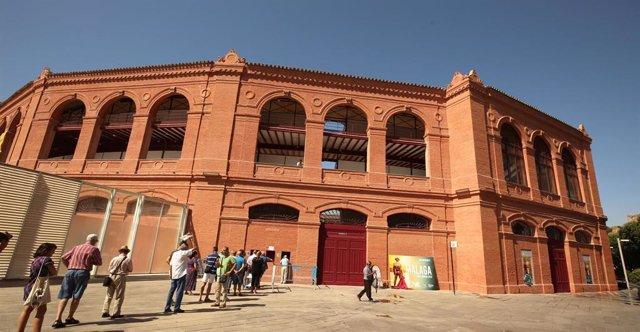 Aspecto de la plaza de toros de La Malagueta recién rehabilitada por la Diputación de Málaga