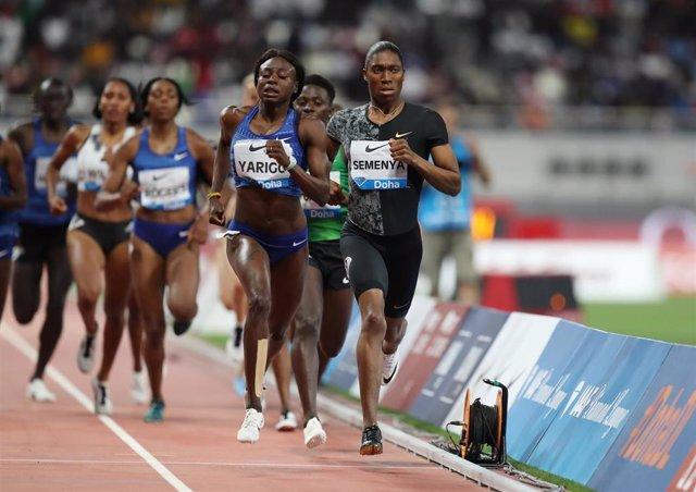 Semenya gana 800 mts en Doha tras perder apelación sobre nuevas reglas