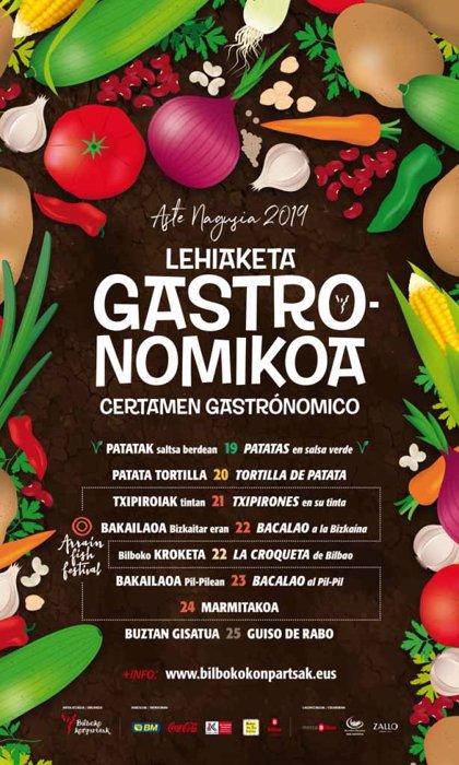 El Txakoli de Bizkaia estará en los concurso gastronómicos de Aste Nagusia de bacalao a la vizcaína y al pil-pil
