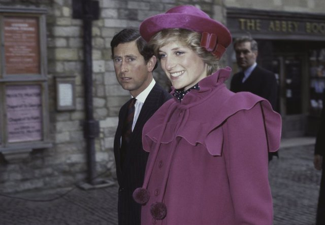 Royal Couple At Westminster Abbey (Lady Diana Spencer)