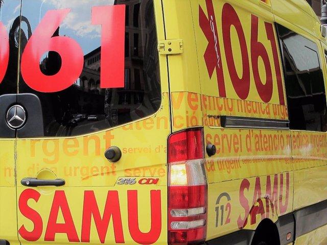 Una ambulancia del SAMU 061 de servicio.