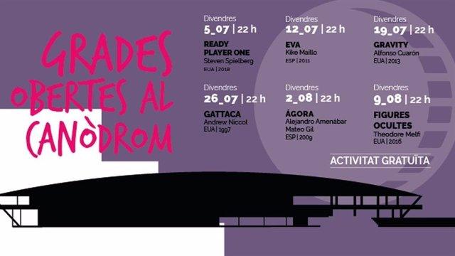 Cicle de cinema Grades Obertes del Canòdrom de Barcelona