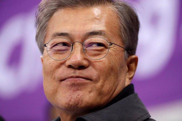 El presidente de Corea del Norte, Moon Jae In