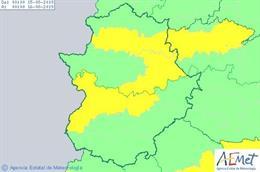 Avisos por altas temperaturas para Extremadura