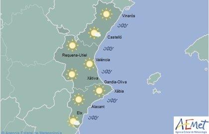 Cielos despejados en la Comunitat Valenciana y temperaturas con pocos cambios para este jueves